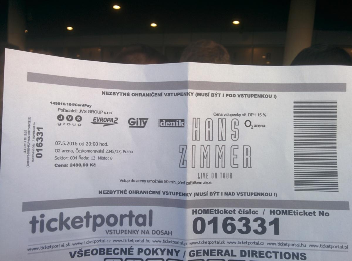 Hanz Zimmer live tour 2016 - Prague